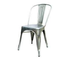 Silver Tolix Industrial Chair
