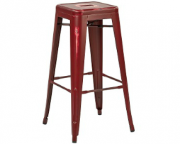 Rusty Barn Red Finish Bar Stool