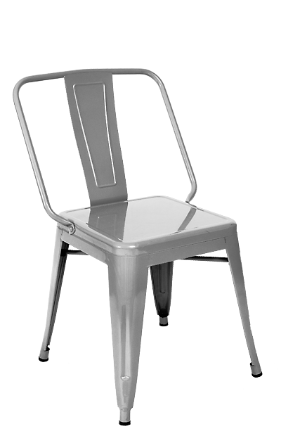 Wide Boy Clear Metal Finish Industrial Side Chair  : Wide Boy Clear Metal Finish Industrial Side Chair from tablebasedepot.com size 400 x 630 png 83kB