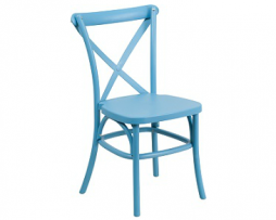 Dutch Back Baby Blue Polypropylene Metal Frame In-Outdoor Chair