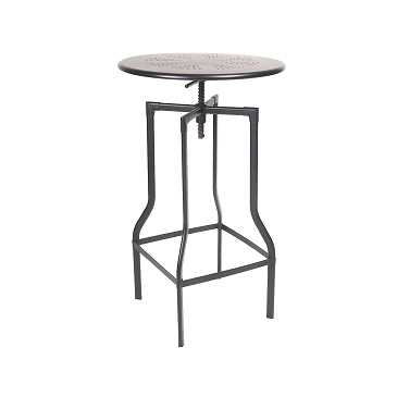 Dark Iron Finish Adjustable Bar Height Table 24