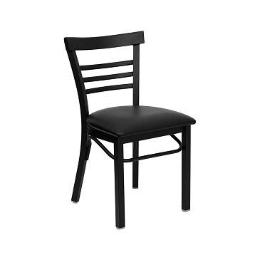 Adelina Black Metal Cafe Chair Black Upholstered Seat ...  sc 1 st  Table Base Depot & Metal Restaurant Chairs u2013 TableBaseDepot